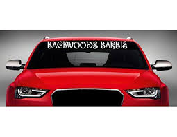 40 X 4 Backwoods Barbie Car Windshield Sticker Truck Window Vinyl Decal Color Pink You Can Get More Details By Cli Car Windshield Vinyl Decals Window Vinyl