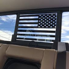 Chevy Gmc Silverado Sierra Back Middle Window American Flag Decal Elevated Auto Styling
