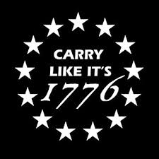 Amazon Com Keen Carry Like It S 1776 2nd Amendment Vinyl Decal Sticker Walls Cars Trucks Vans Laptops White 5 5 In Kcd726 Automotive