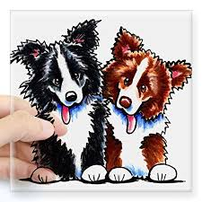 Cafepress Little League Border Collies Square Sticker 3 X 3 Square Bumper Sticker Car Decal 3 X3 Small Or 5 X5 Large Border Collies