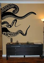 Large Kraken Octopus Tentacles Vinyl Wall Decal Choose Any Etsy Nautical Decor Living Room Simple Wall Art Cool Wall Art