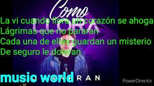 JuanFran - Como llora + Testo (Lyrics)