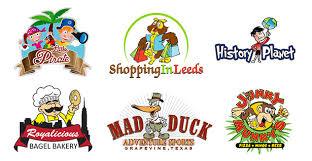 fun and creative cartoon logos in