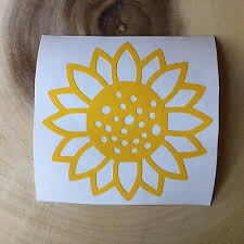 3x3 Vinyl Decal Sunflower Vinyl Decals Vinyl Decal Stickers Macbook Decal Stickers