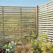 slatted pressure treated fence panel