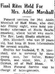 Addie Marshall (1904-1937) - Find A Grave Memorial