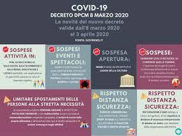 Decreto 8 marzo 2020: nuove misure per il contenimento del ...