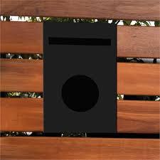 Sandleford Black Galvanised Steel Matilda Picket Fence Letterbox