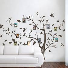Tree Silhouette Vinyl Wall Art Decal Birch Of Life Small Design Family Branch Nursery Vamosrayos