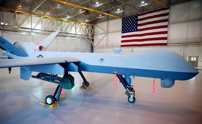 drone MQ-9 Reaper yang di pangkalan udara