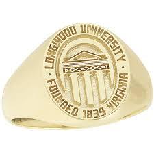 Longwood University Small Signet Ring