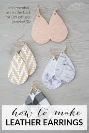 diy leather diffuser earrings making