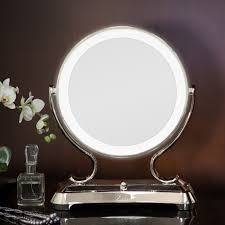 makeup mirror with light wall mounted