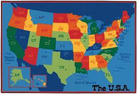 6 X 9 United States Map Area Rug Usa Map Carpet