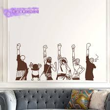 One Piece Silhouette Wall Decal Vinyl Wall Stickers Decal Decor Home Decorative Decoration Anime One Piece Car Sticker Decorative Home Decor Home Decorvinyl Decal Aliexpress