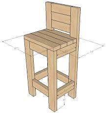 how to build a 2 4 bar stool