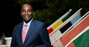 Watch a video as Abi Williams talks with Fletcher School Dean James  Stravidis about his career | Tufts Global Leadership