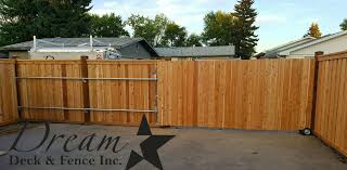 Fully Custom Cedar Sliding Gate On Rollers 13ft Wide Perfect For A Large Rv Dreamdeckandfence Ca Sliding Fence Gate Wood Fence Sliding Gate