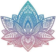 Beautiful Tribal Henna Pattern Lotus Flower Pink Blue Ombre Vinyl Decal Sticker 4 Wide