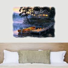Lake Cabin Sunrise 29 X 39 Wall Decal American Expedition