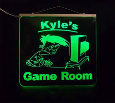 Personalized Led Game Room Man Cave Sign Color Changing Kids Boys Uniqueledproducts On Artfire