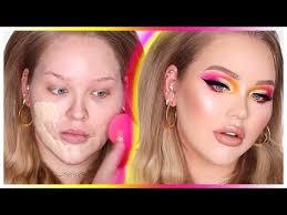 popping summer makeup transformation