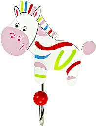 Amazon Com Mousehouse Gifts Little Zebra Single Wall Hook Coat Hook For Kids Room Or Nursery Toys Games