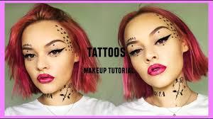 face tattoos makeup tutorial lucy
