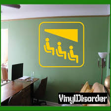 Chair Lift Sign Decal Vinyl Wall Decals Car Decals Vinyl Chair Lift Sign