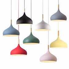 modern e27 solid wood pendant lamp art
