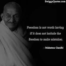 famous mahatma gandhi quotes on leadership swiggy quotes