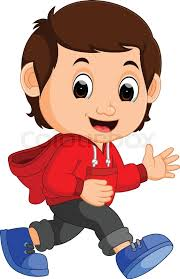 cute boy cartoon stock vector colourbox