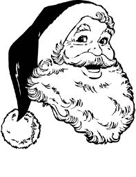 Kleuren Nu Portret Van Kerstman Met Muts Kleurplaten