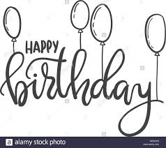 Happy Birthday Hand Lettering Greeting Fotos E Imagenes De Stock Pagina 9 Alamy