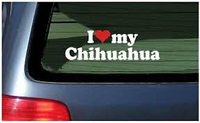 I Love My Chihuahua Sticker Vinyl Decal Car Window Dog Puppy Mexican Breed Ebay