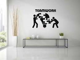 Amazon Com Teamwork Wall Decals For Office Office Decals Custom Wall Decals Office Wall Decor Teamwork Wall Stickers Business Wall Decals Ik3765 Handmade