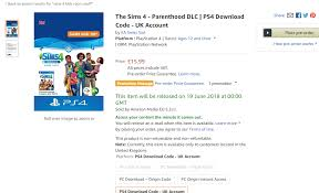 The Sims 4 Console Both The Sims 4 Parenthood And Kids Room Stuff Have Been Listed For Console On Amazon Sims Online