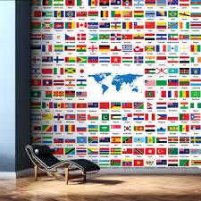 map colorful custom wall mural