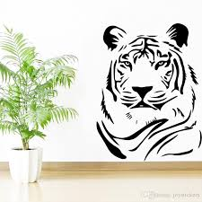 Fierce Tiger Wall Sticker For Kids Bedroom Accessories Waterproof Vinyl Wall Decals Self Adhesive Art Home Decor Poster Removable Wallpaper Decals Retro Wall Stickers From Joystickers 18 Dhgate Com