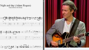 Adam Rogers - Lick from 'Night And Day' - Best lick (animated tab - Fast...  | Day for night, Guitar lessons, Rogers
