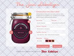 jam preserve jar labels custom