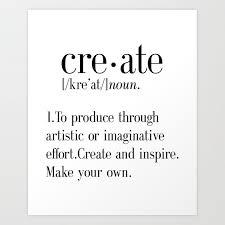 create definition create quote print