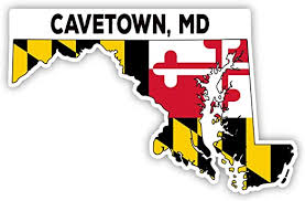 Amazon Com Cavetown Maryland State Shape Vinyl Decal Sticker Small 2 Inch Kitchen Dining