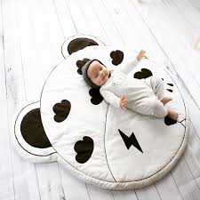 Children Kids Room Game Play Mat Baby Crawling Rug Carpet Cotton Floor Blanket