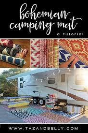 bohemian camping mat tutorial diy