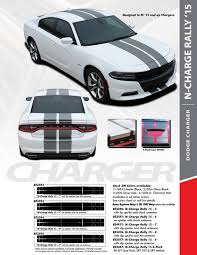 Dodge Charger Racing Stripes Graphic Rally Hood Decal 2015 2020