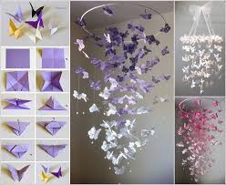 Make A Butterfly Chandelier Mobile For Your Kids Room