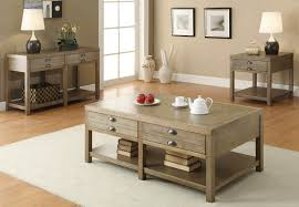 casual light oak sofa table
