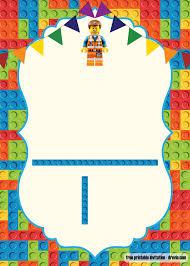 Free Printable Lego Birthday Invitation Template Invitaciones De