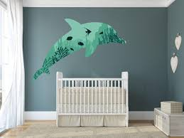 Dolphin Coral Wall Decal Canvas Art Rocks